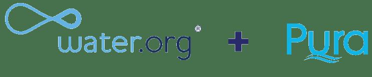 Water.org and Pura Logos