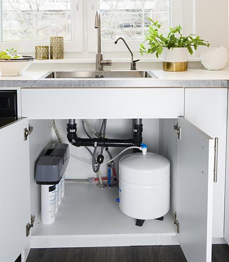 pura fresh reverse osmosis drinking water system installed under sink