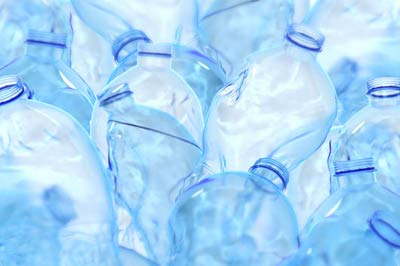 a collection of unsightly bottle waste